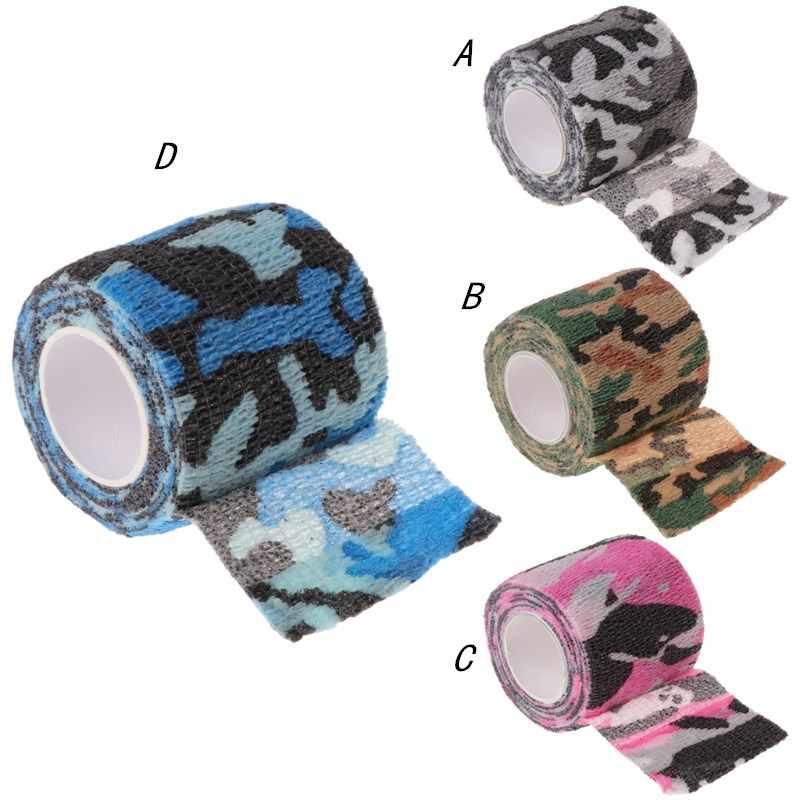 1 rolka tatuaż samoprzylepne włókniny bandaż elastyczny Grip Tube pokrywa Wrap taśma sportowa akcesoria dostaw tatuaż