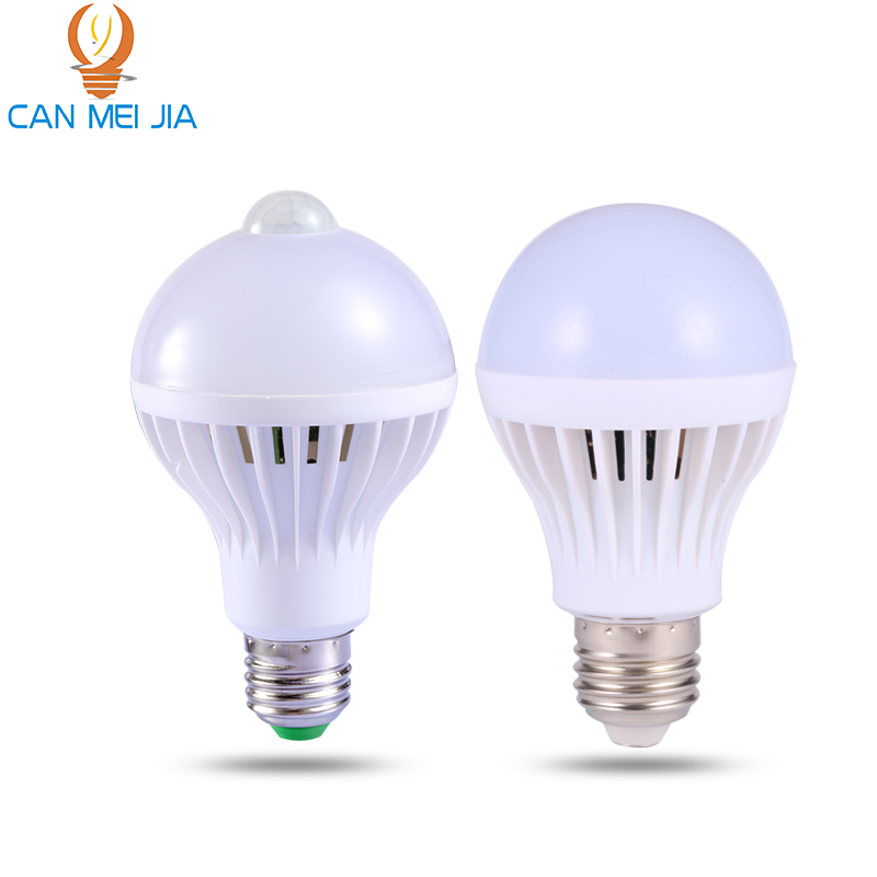 PIR Motion Sensor Lamp 5w LED Bulb 7w LEDs 9w Auto Smart LED Light Bulbs Or Sound Voice Light E27 Motion Sensor Light LED Lamp