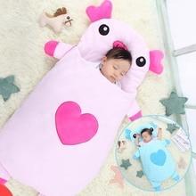 все цены на Cartoon Little Pig Baby Sleeping Bag Envelope Style Newborn Baby Strollers Bed Swaddle Blanket Wrap Bedding 105CM