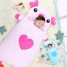 Cartoon Little Pig Baby Sleeping Bag Envelope Style Newborn Baby Strollers Bed Swaddle Blanket Wrap Bedding 105CM стоимость