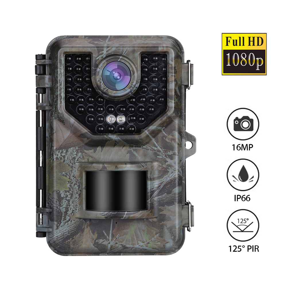 BOBLOV E2 Trail Camera 16MP 1080P 48pcs Infrared LEDs Hunting Camera Waterproof Outdoor Wild Gamge Camera Photo Traps-in Hunting Cameras from Sports & Entertainment