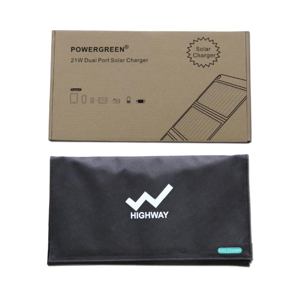 PowerGreen Solar Charger Panel Double Output 21 Watts Sammenleggbar - Tilbehør og reservedeler til mobiltelefoner - Bilde 6