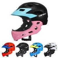 키즈 마운틴로드 자전거 헬멧 모토 크로스 내리막 어린이 자전거 헬멧 2 1 풀 페이스 사이클링 헬멧