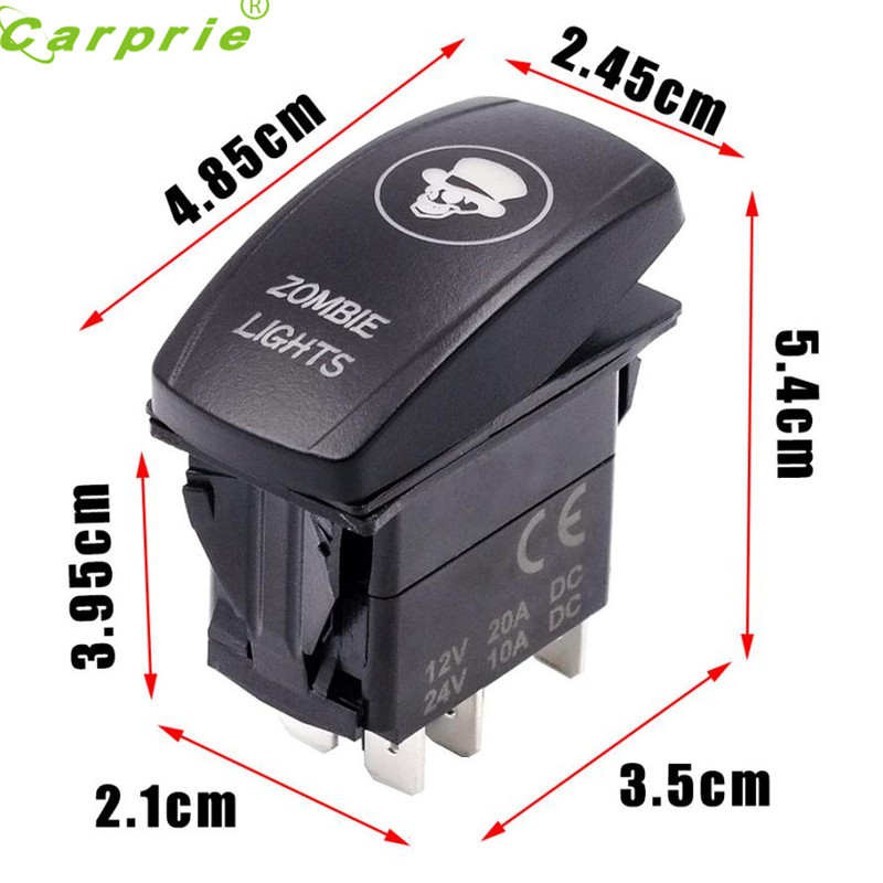 2017 Car Switch Car Auto Truck Boat Marine 12V 24V ON OFF Rocker Switch Blue LED Light Apri29 car-styling car styling
