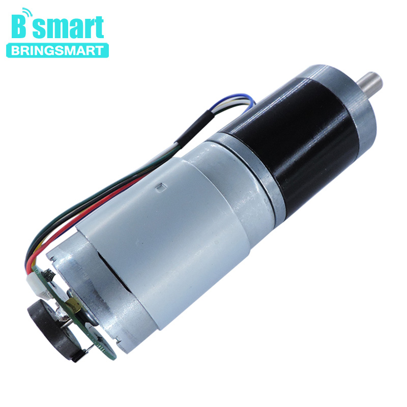 Bringsmart Electric Motor 12V 24V Micro Planetary Gearbox Encoder Reducer Motor Machine General Reversible PG36-555BBringsmart Electric Motor 12V 24V Micro Planetary Gearbox Encoder Reducer Motor Machine General Reversible PG36-555B