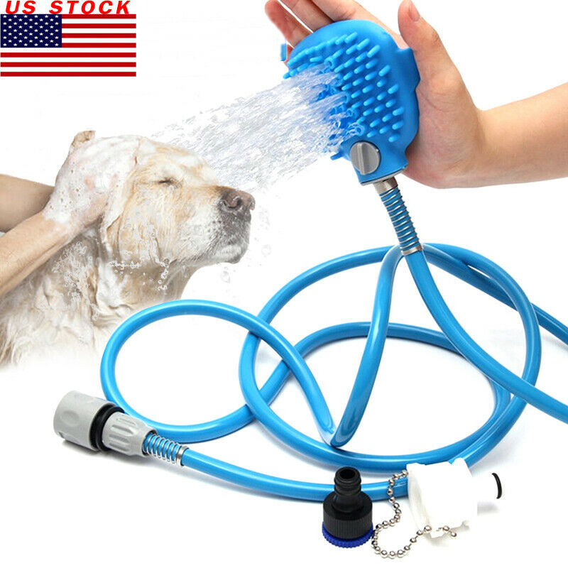 Dog Hair Pet Shower Washing Grooming Spray Hose Bath Tub Sink Faucet Attachment