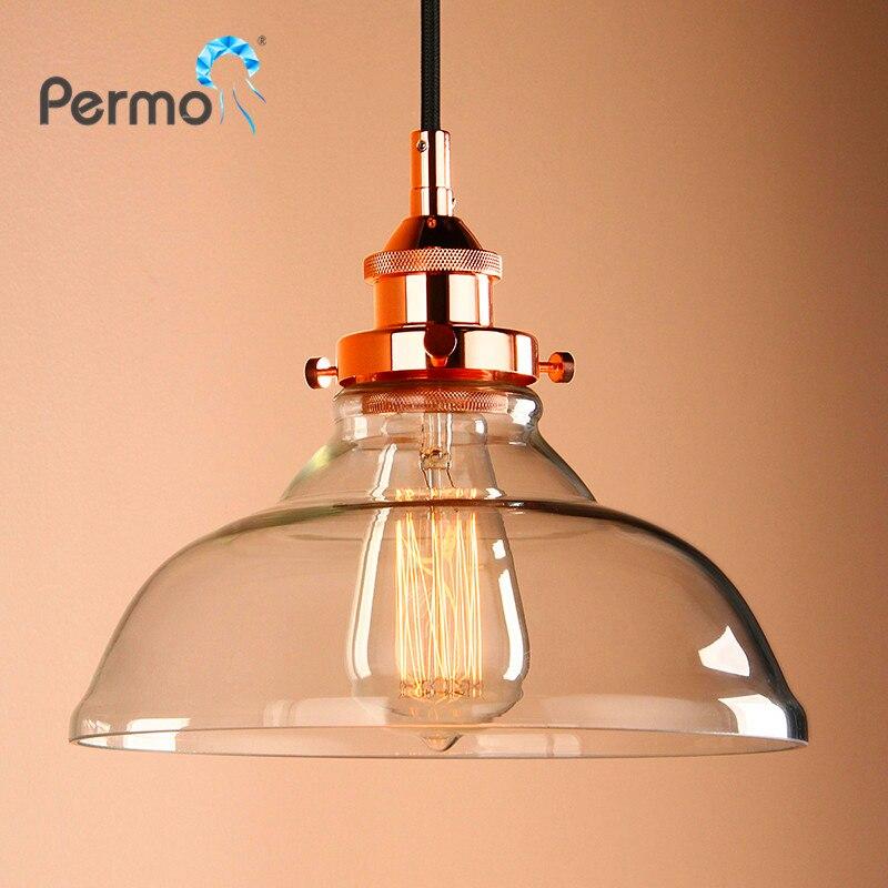 PERMO 9.8 E27 подвесные светильники из меди и стекла, подвесные потолочные светильники современные светильники, рождественские украшения для до...