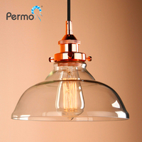 Permo Industrial Style Hanging Lamp Fixture With Dia 5 6 Mini Oval Shaped Clear Glass Shade