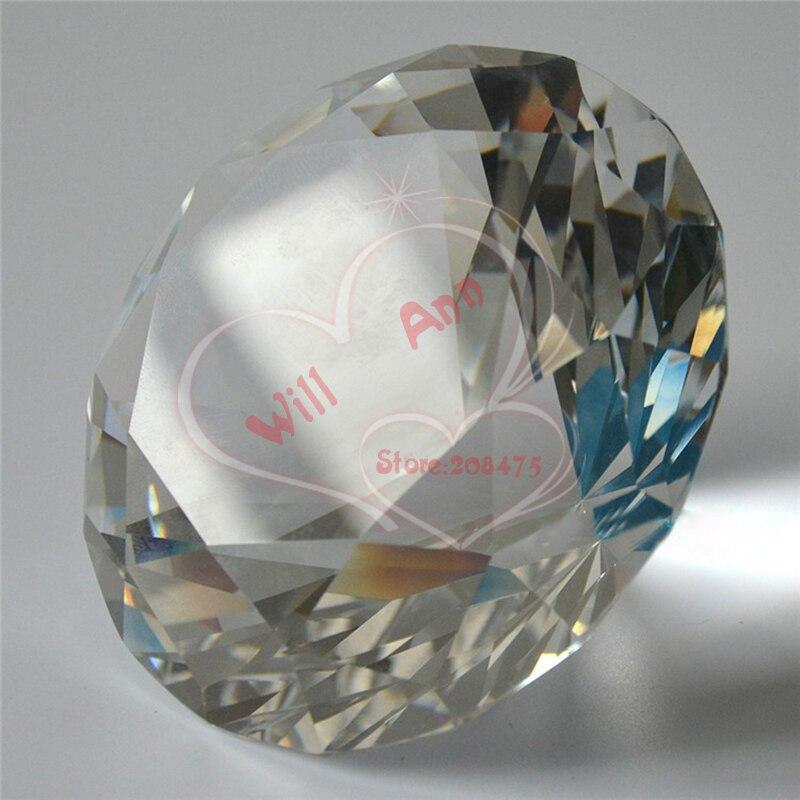 100mM křišťálový diamant velký drahokamu těžítko pro showroom dekorace svatební vrchol