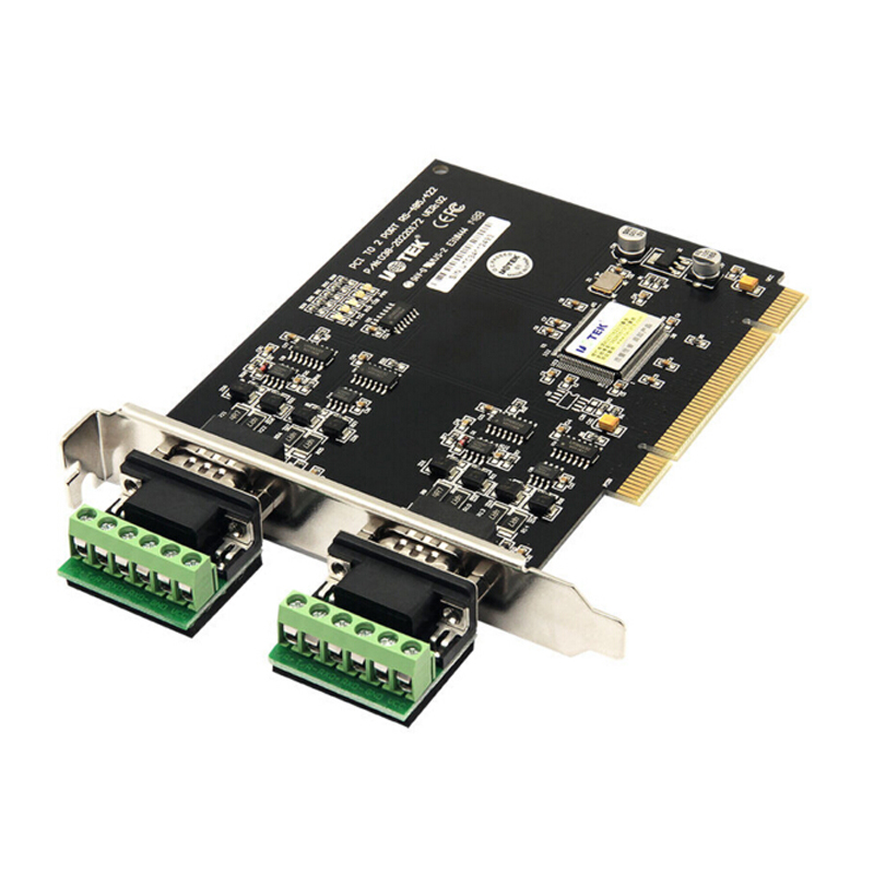 PCI serial card  PCI TO 2 Port RS485 RS422 COM Serial Port adapter converter card good quality 2 ports 0ptoelectronic isolation high speed serial rs422 rs485 pci card sysbase1053 chipset best price
