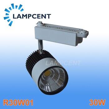 Miễn phí vận chuyển ĐÈN LED theo dõi 30 W COB cao lumens Chất lượng cao đường sắt ánh sáng đèn 2 năm bảo hành