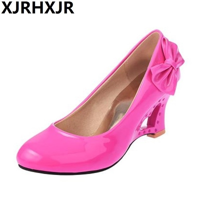 Pumps Ladies Stiletto Womens High Heels Shoes Strange Heart Heels Woman  Pumps Bowtie Office Wedding Bridal Shoes Big Size 35-43 345a76138a18