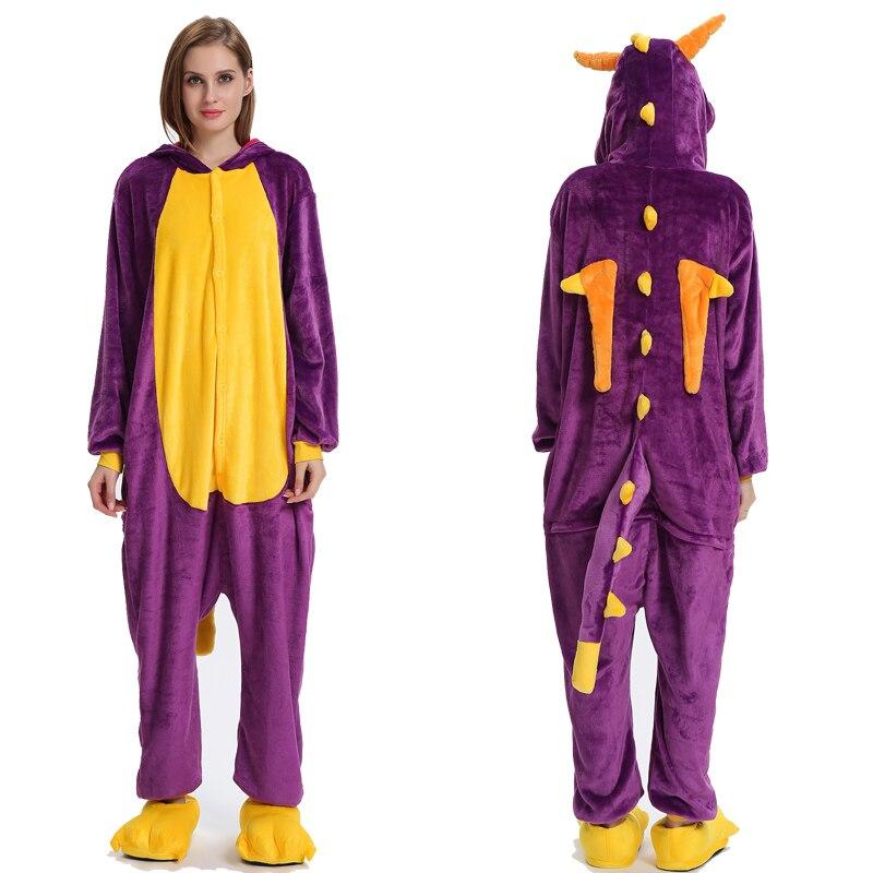 Adult Animal Kigurumi Onesie Men Women Unicorn Sleepwear Pajama Soft Fancy Anime Unicornio Pijima Winter Overall Nightwear