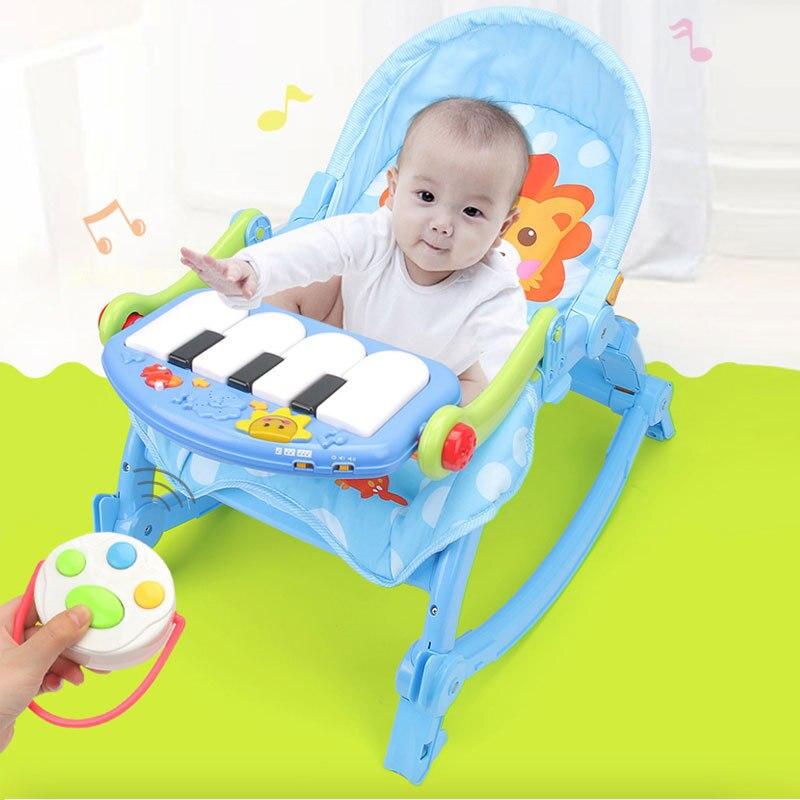 Bébé pédale piano apaiser chaise berçante et lit à bascule éducation précoce jouets éducatifs