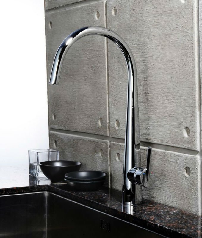 factory supplier modern single handle kitchen mixing tap sink faucet chrome finish ny 00481 - Kitchen Sink Supplier