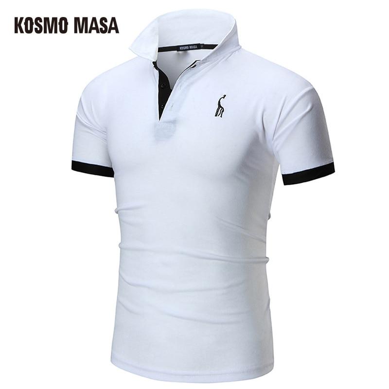 KOSMO MASA 2017 Cotton Solid Casual   Polo   For Men Spring Summer Short Sleeve Anime Shirt Men's Jersey   Polo   Shirts MC0299