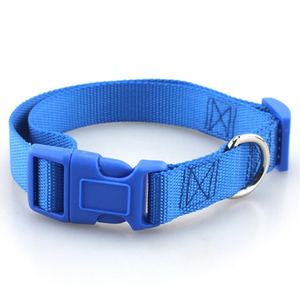 Image 5 - Pet Dog Collar Classic Solid Basic Polyester Nylon Dog Collar with Quick Snap Buckle, Can Match Leash & Harness