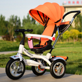 Bicycle tricycle rotating seat children tricycle driver push