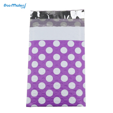 10pcs #000 Poly Bubble Mailers 4x8 Inch/130*180mm Envelopes Purple spots design Lined Mailer