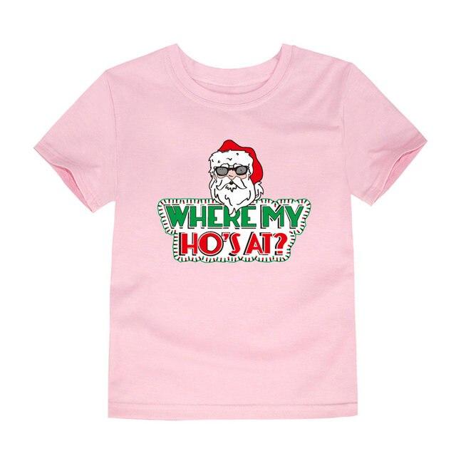 8928f43ec Brand New Summer Boys Short Sleeve Cotton T Shirts Children Christmas  Tshirts Girls Santa Claus Baby Tops Kids T-shirt for 1-14T