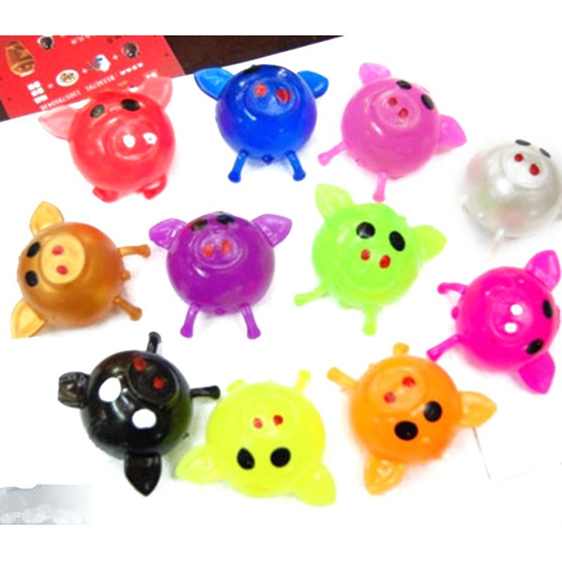 RCtown Anti Stress Goods Various Types Pig Toys Decompression Splat Ball Vent Toy Venting Ball Sticky Smash Water Ball