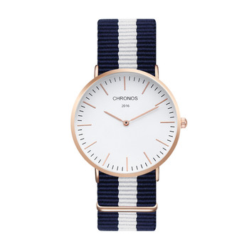 Brand CHRONOS Watches Men Women Quartz Watch Rose Gold Nylon Male WristWatch Clock Saat Relojes Mujer Relogio Masculino Hodinky 3