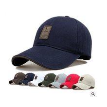 cb3de84735 Sol visera moda al aire libre Sol hombres sombrero ajustable Golf viajes  playa Pesca Gorras de béisbol hombres sombrero de veran.