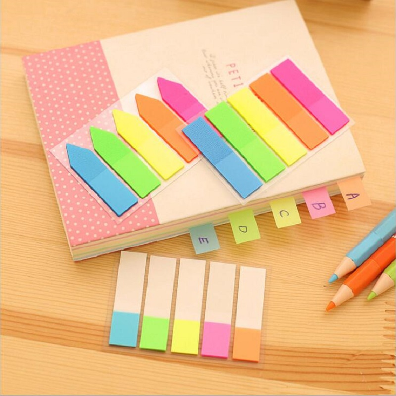 Write-On Index Tab Sticker Book In Notebook Notepad Stationery School Supply HC