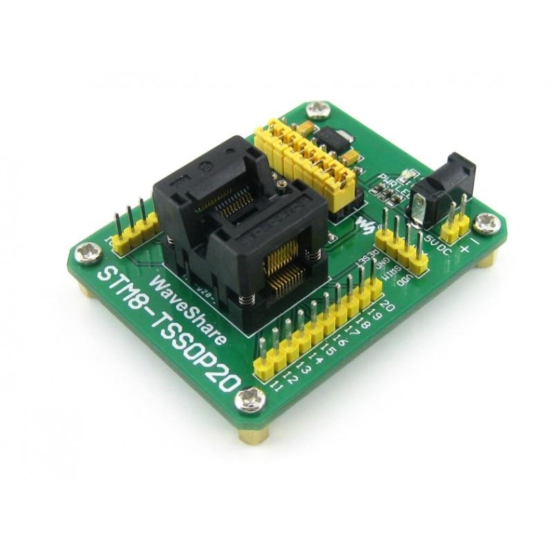 STM8 TSSOP20  STM8 Programming Adapter IC Test Socket for