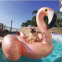 Rose Gold Inflatable Flamingo Swimming Float Tube Raft Adult Giant 150*100cm pool Float Swimming Ring Summer Water Fun Pool Toys
