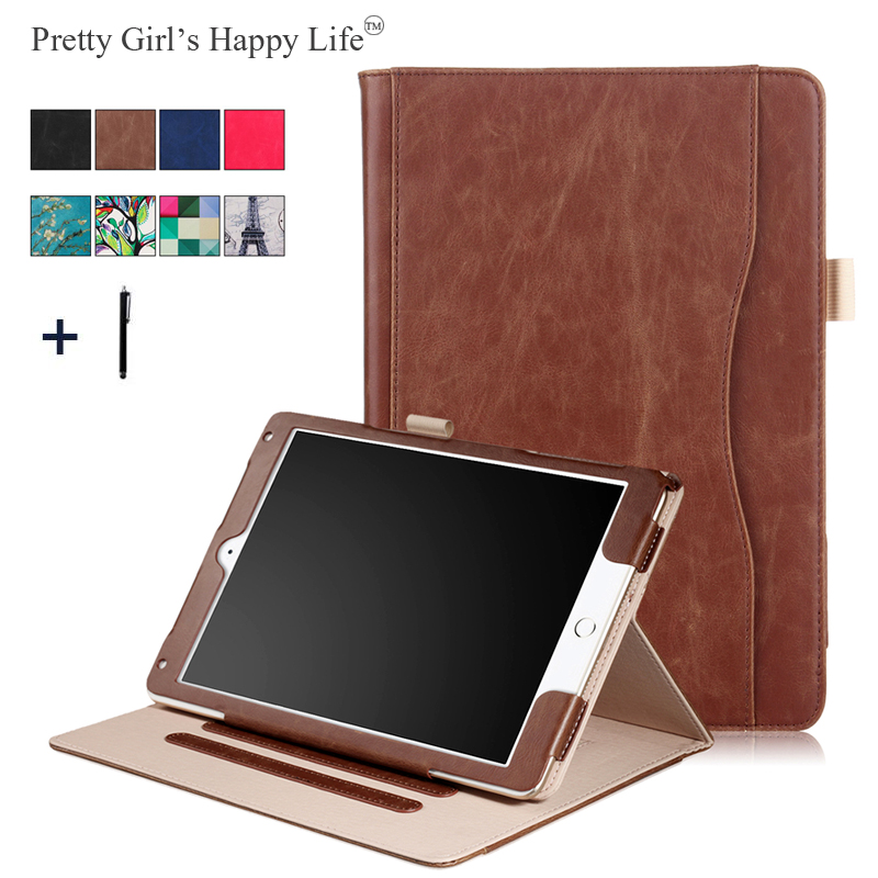 Pretty Girls Happy Life 10.5 inch Universal Tablet Case For iPad Pro 10. 5 Frame Flip Leather Card Handbag Stand Cover+Stylus цена и фото