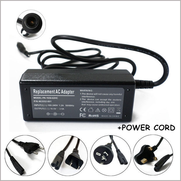 65W 18.5V 3.5A AC Adapter Charger Carregador Portatil For Laptop HP G32 G41 G42 G45 G51 G52 G53 G61 G62 G63 G64 G71 G72