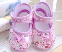 Девушки цветы лук ребенок обуви малыша 11 см 12 см 13 см весна осень дети обувь первые ходоки