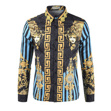 2018 New Summer Mens Long Sleeve Beach 3D Shirts Cotton Casual Floral Regular Plus Size 3XL clothing Fashion 121