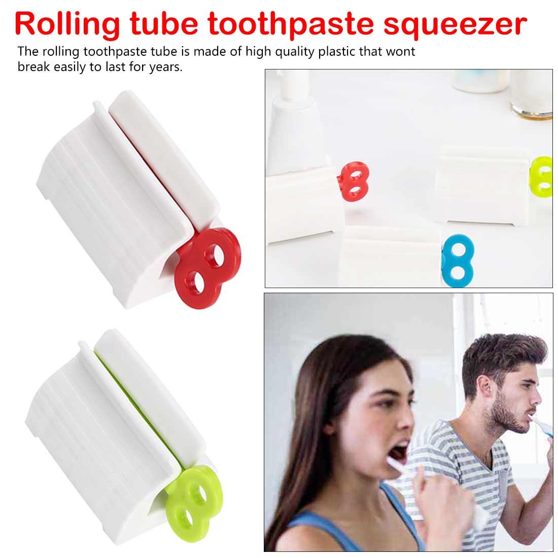 Bathroom Tool Plastic Cream Tube Squeezing Dispenser Rolling Tube Squeezer Tooth Paste Squeezer Toothpaste Dispenser