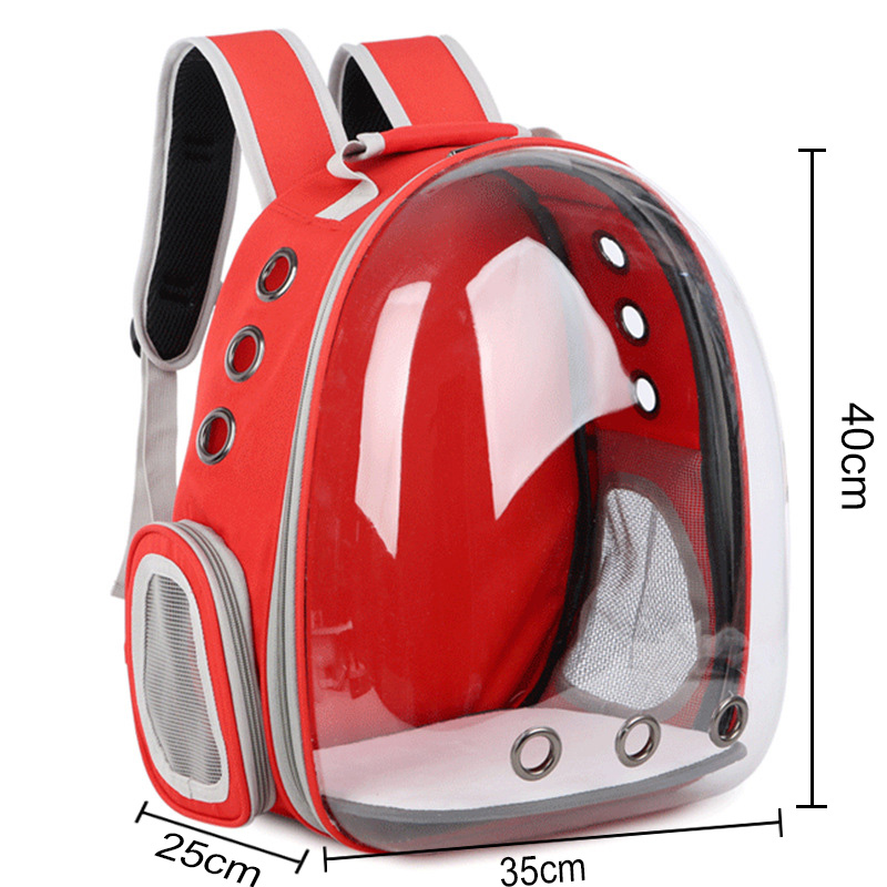Free shipping Cat bag Breathable Portable Pet Carrier Bag Outdoor Travel backpack for cat and dog Transparent Space pet Backpack 5