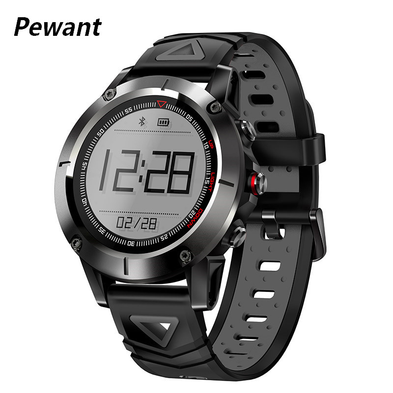 Pewant GPS Smart Watch Men IP68 Waterproof Heart Rate Monitor Fitness Tracker Sports Watch With Compass Altitude For Xiaomi iOS 2018 pewant gps smart watch sport tracking with heart rate monitor fitness tracker smartwatch for android ios new year gift