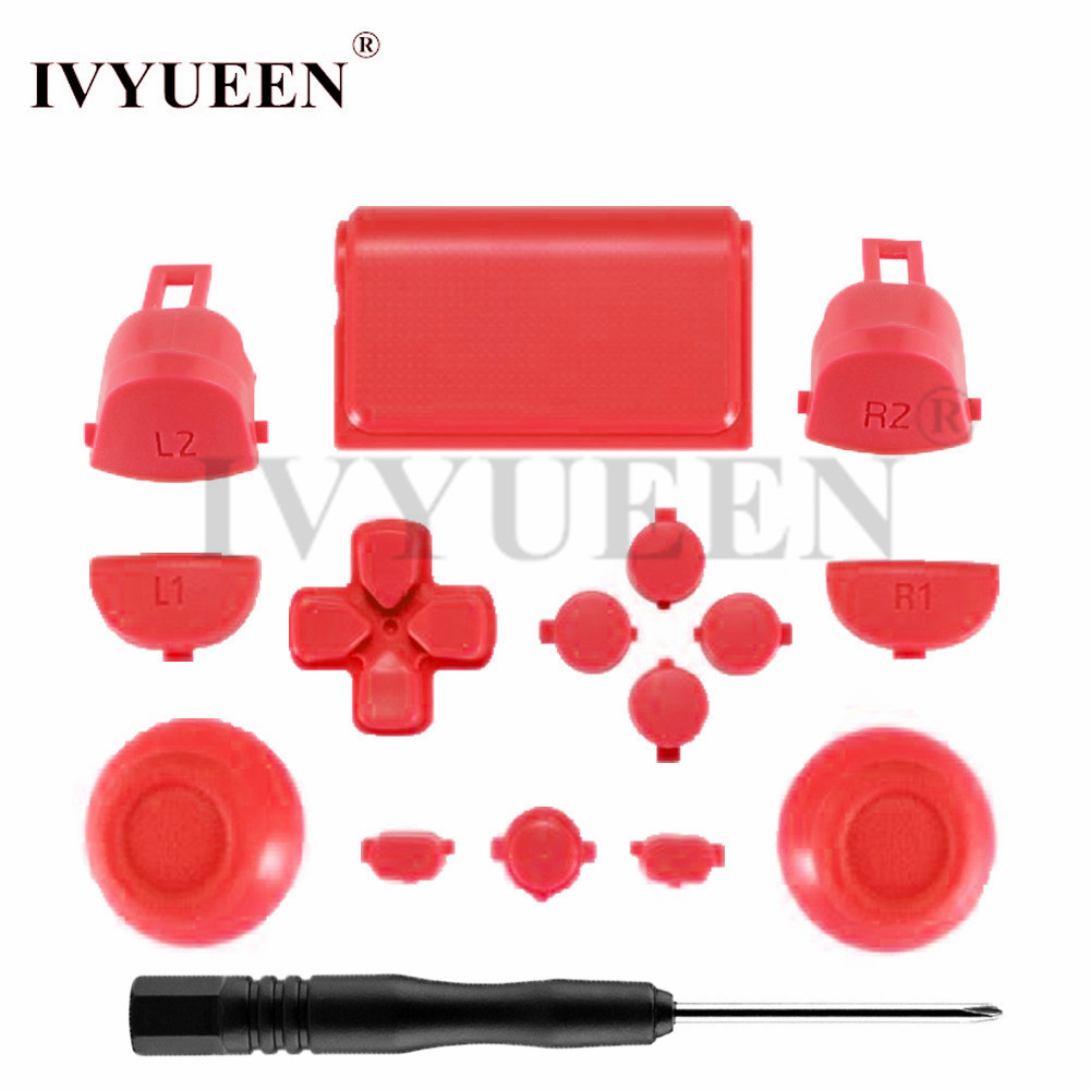 ivyueen-for-font-b-playstation-b-font-dualshock-4-ps4-pro-controller-jds-040-jds040-r2-l2-r1-l1-trigger-dpad-buttons-mod-kit-green-red-clear