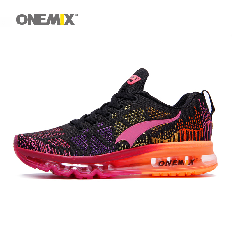 Onemix women's sport running shoes music rhythm for lady sneakers breathable mesh outdoor athletic shoe light shoe size EU 35-40 2017brand sport mesh men running shoes athletic sneakers air breath increased within zapatillas deportivas trainers couple shoes
