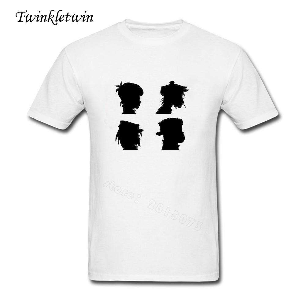 Good quality black t shirt - 2017 Summer Cotton Youth Gorillaz T Shirts Good Quality Men Short Sleeved Tee Shirts Young Men