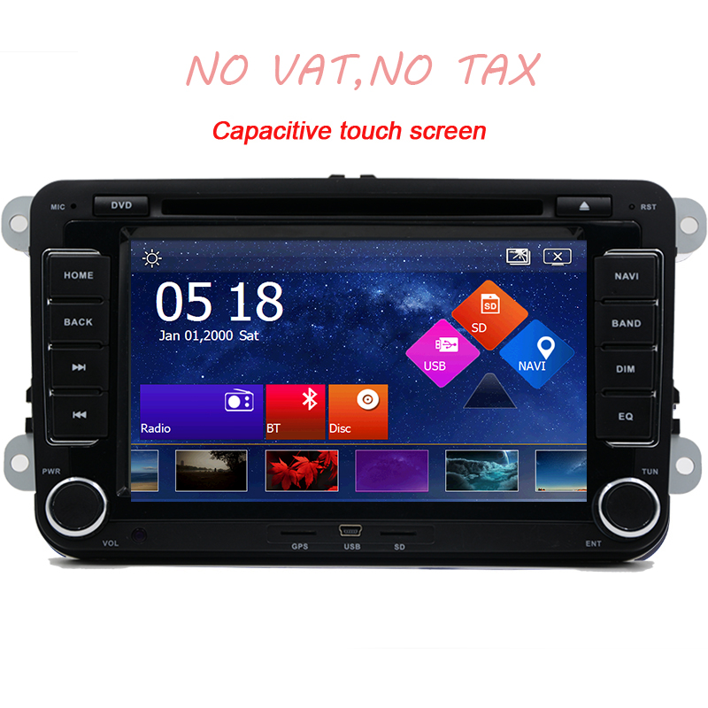 2 Din 7 Inch Car DVD Player For VW/Passat/POLO/GOLF/Skoda/Seat/Leon With Radio Video Bluetooth GPS Navigation IPOD FM RDS