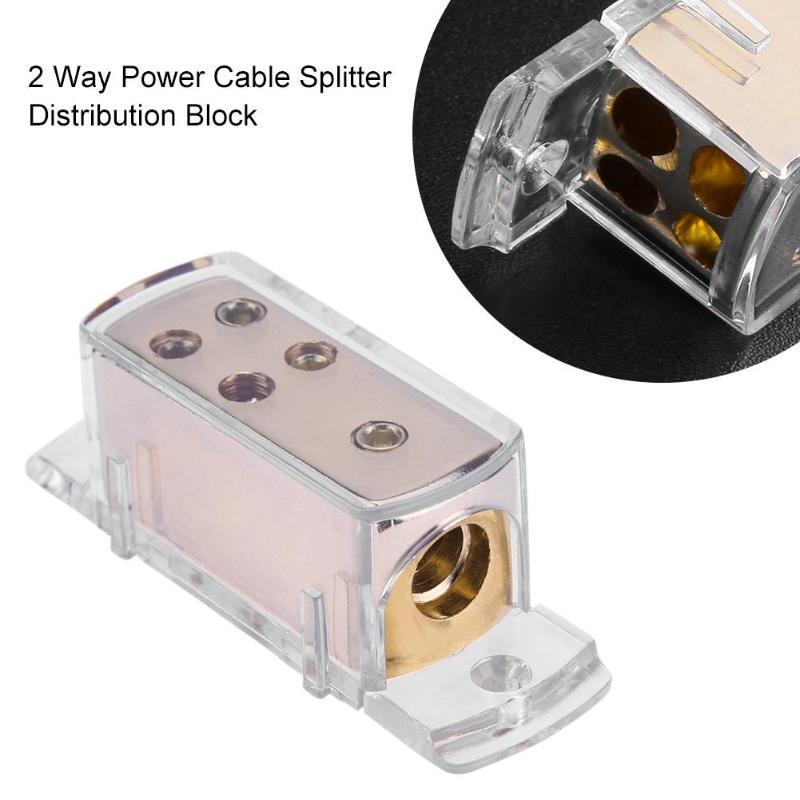 Electronics 2-Way Car Audio Power//Ground Cable Splitter Distribution Block