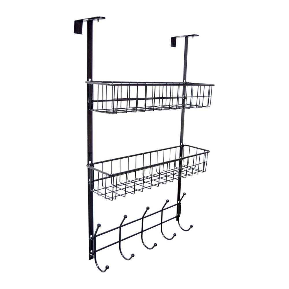 Door behind the hook rack kitchen bathroom rack without nails door hook hanger dumbbell door rear shelf wx8090957