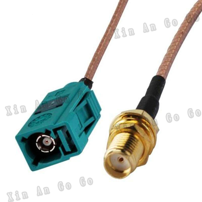 RF Coaxial cable FAKRA to SMA connrctor FAKRA Z female green to SMA female RG316 pigtail cable 15cm or other fast ship