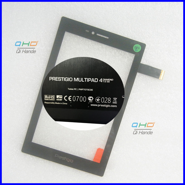 "Black New Touch Screen 7"" Prestigio Multipad 4 Diamond 7.0 3G PMP7070C3G Tablet Touch Panel digitizer Sensor Free Shipping"