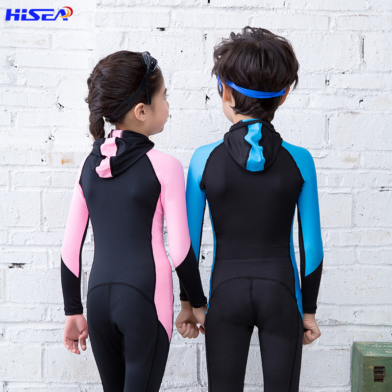 Hisea Kids Wetsuits Swimmimg Diving Suits Water Sports Clothing for Boys Girls Children Rash Guards One Piece Surfing Anti UV Pakistan