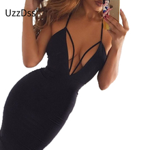 Red/black Sexy Club Dress 2018 Women Summer Party Dresses Cut Out Bodycon Dress Halter Backless Mid Bandage Dress Vestidos Robe