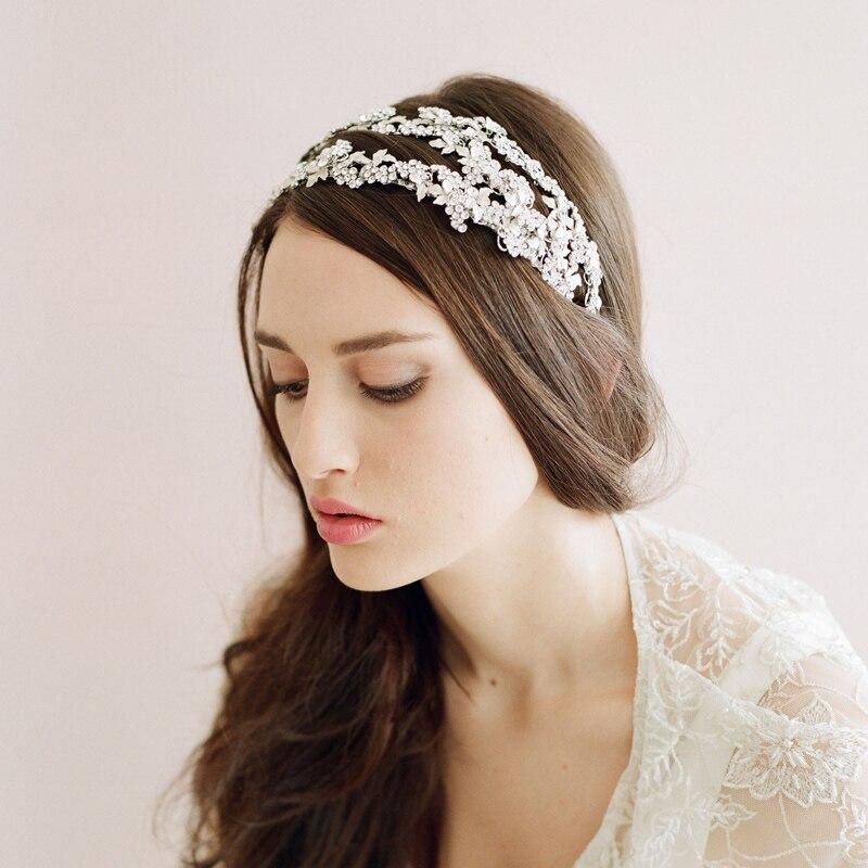 Exclusif personnalisé rétro Europe et amérique bohème mariée tête accessoires femmes à la main chapeaux pour se marier fleur O029
