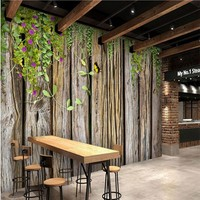 Beibehang מותאם אישית גדול טפטים קירות סלון חדר שינה ספת טלוויזיה רקע עץ גפן ירוק בית תפאורה