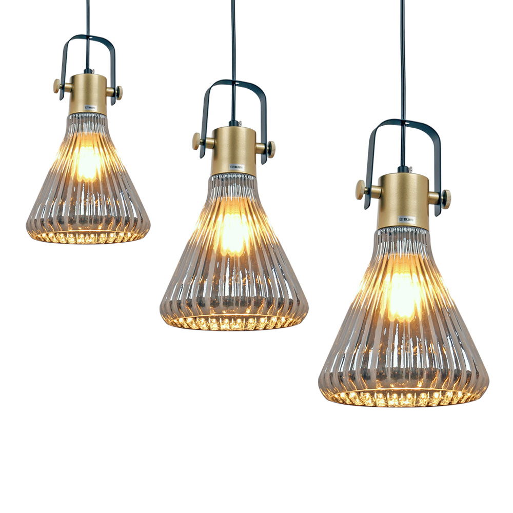 LEDERTEK Europe Style Simple Loft Retro Pendant Light Bar Restaurant Coffee Shop Lamp Personality Creative Glass Lighting цена и фото